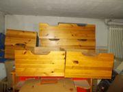 6 Unterbau Bett Vollholz Schubladen