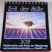 Kalender 2018 - Zeit der Stille -