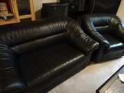 Leder Sessel und Couch