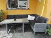 Polyrattan Lounge mit Esstisch