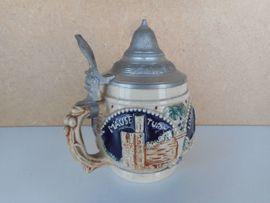 Glas, Porzellan antiquarisch - 7x sehr schöne alte Tonkrüge -