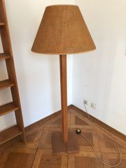Wunderschöne stylische Holz-Stehlampe Top Zustand