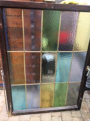 Bleiverglasung Fenster antik bunt