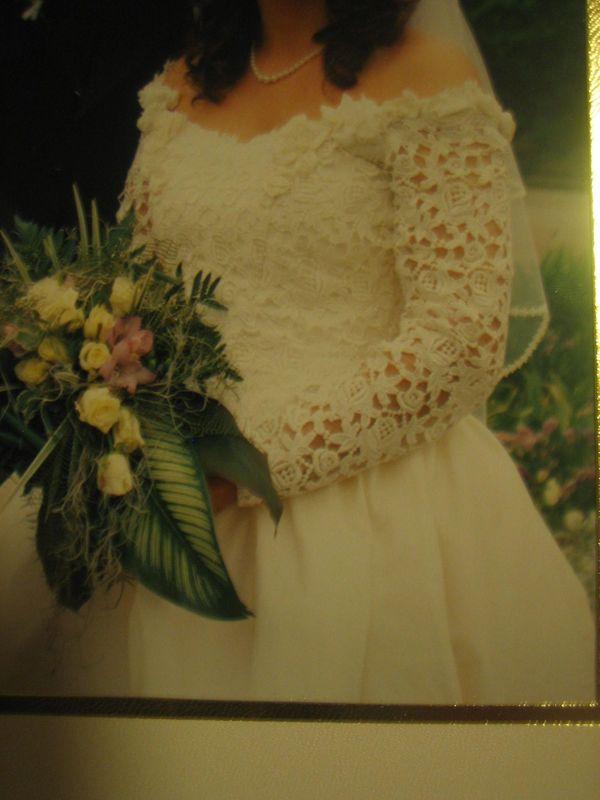 Vintage Brautkleid Hochzeitskleid aus Wildseide