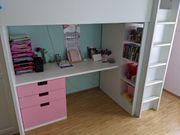 Mädchen Hochbett mit Schreibtisch