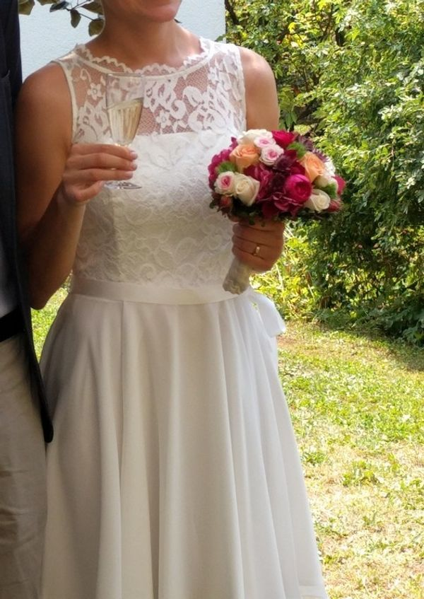 Kurzes Brautkleid Gr 36 Standesamt