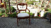 Antiker Biedermeierstuhl-Sessel Neuer Bezug