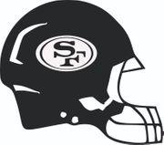 San Francisco 49ers Football Helm