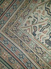 Gebrauter Handgeknüpfter Indischer Schurwolle Teppich