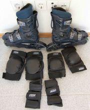 Inliner Größe 41 incl Skater-Schutz-Set