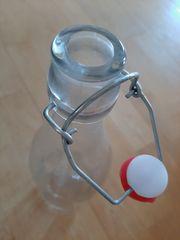 Glasflaschen mit Bügelverschluss - 9 Stück -