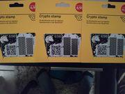 Crypto stamp 3 x schwarz