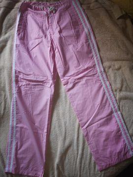 Mädchen Freizeithose rosa im Adidas Style NEU