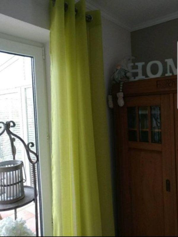 Ösenschal Vorhang Gardine neu grün