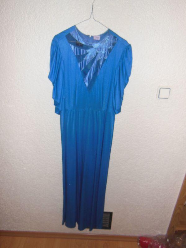Größe 46 Langes blaues Ballkleid
