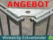 10x Winkelclips für Gabionen Eckverbinder