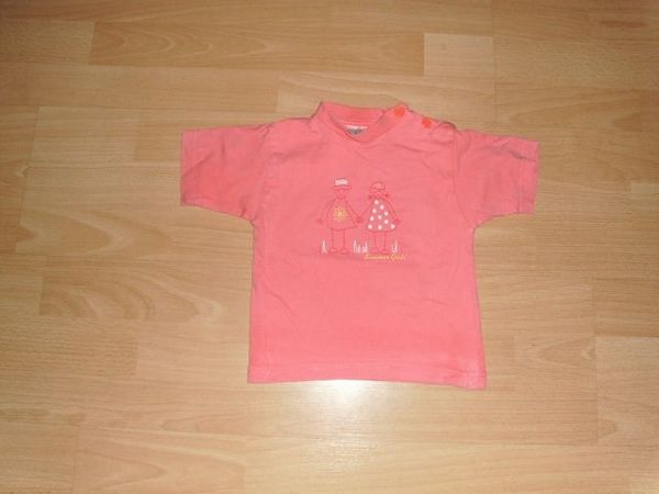 T-Shirt rosa mit Motiv Gr
