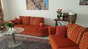 Sofa Rattan 2x mit Bettfunktion