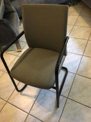 Stühle grau Freischwinger
