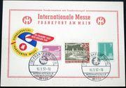 Briefmarken BRD 1957 Postkarte Internationale
