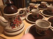 21tlg Nostalgisches Kaffeeservice Keramik Winterling