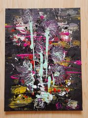 Abstrakt Acryl Bild Blumen