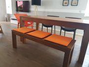 Massivholztisch Teakholztisch Tisch Esszimmertisch mit