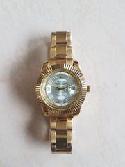 Luxus Goldfarbene Herren Armbanduhr Quartz