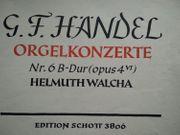 Klaviernoten Pianobuch Orgelheft G F