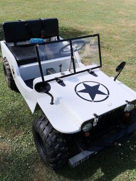 Willy Jeep Mini Auto - Benzin Kinderauto Geländejeep mit Benzinmotor 125ccm