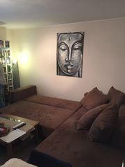 Wohnlandschaft Sofa Couch in Braun