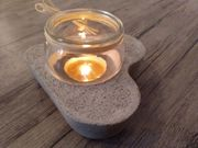 DIY Betondeko wie Teelichthalter Drachenei