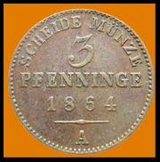 3 Pfenninge Friedrich Wilhelm IV
