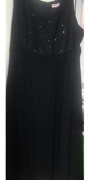 Abendkleid Gr 58-60 schwarz mit