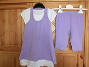 dreiteilige Shirt-Radler-Kombi für Mädchen in