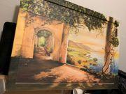 Wandgemälde Bild Toscana 70x100cm