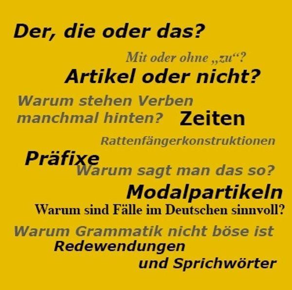 Deutsch als Fremdsprache auch Prüfungsvorbereitung