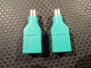 2x PS 2-Stecker auf USB Buchse