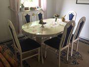 Esszimmer weiß mit 6 Stühlen