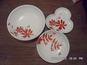 Majolika Set Schalen Keramik Handarbeit