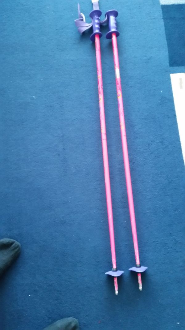 Skistöcke 120 cm pink lila