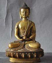 Tibet Buddha Statue Messing Gold