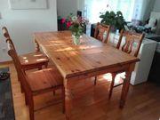 Esszimmertisch mit 6 Stühlen Massivholz