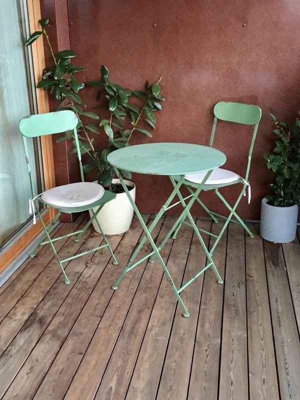 Tisch und Stühle Sitzgarnitur außen