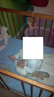 Vollholz-Kinderbett 140x70 cm inkl Lattenrost