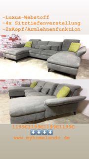 Sofa Couch Wohnlandschaft U Form