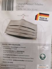 Textile Mund-Nasen- Faltenmasken 2 Stück