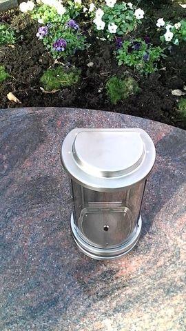 Grablaterne Edelstahl matt Grablampe Grablicht: Kleinanzeigen aus Mahlberg Orschweier - Rubrik Sonstiges für den Garten, Balkon, Terrasse
