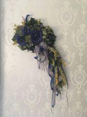 Wanddeko Kunstblumen Deko floral Wandgesteck