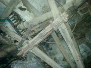biete antikes Leiterwagenfahrgestell